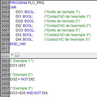 Exemples en littéral struturé