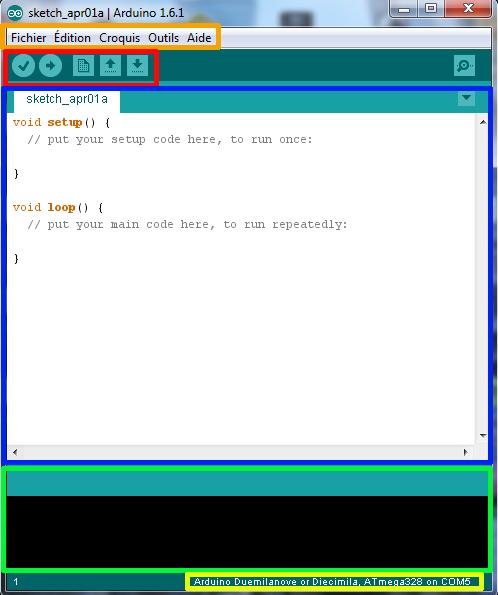 Page vierge arduino IDE