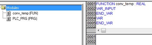 Création d'une fonction sous codesys