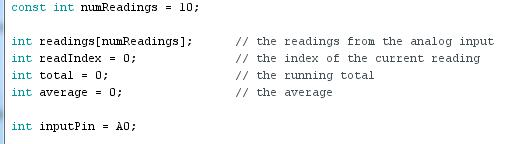 exemple arduino: smoothing 01