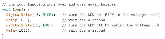 Arduino exemple blink 01