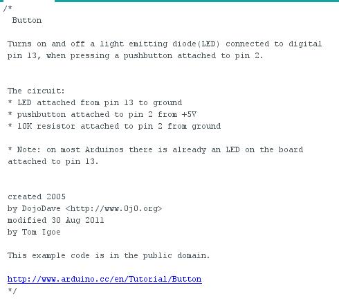 Documentation du programme Button