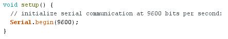 exemple arduino: read analog voltage